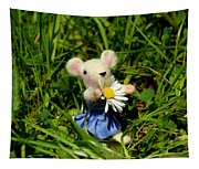 Family Mouse On The Spring Meadow Tapestry
