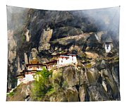 Famous Tigers Nest Monastery Of Bhutan 3 Tapestry