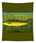 Fanciful Golden Mackerel Tapestry by Shelli Fitzpatrick