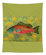 Fanciful Pink Snapper  Tapestry by Shelli Fitzpatrick