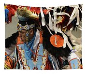 Pow Wow Fancy Dancer 1 Tapestry