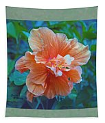 Fancy Peach Hibiscus Tapestry