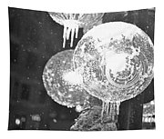 Faneuil Hall Lollypop Light Icicles Boston Ma Black And White Tapestry