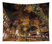 Fanueil Hall Boston Ma Autumn Foliage Tapestry