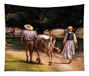 Farm - Cow - Time For Milking  Tapestry