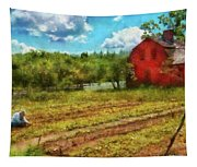 Farm - Farmer - Farm Work  Tapestry