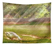 Farm - Geese -  Birds Of A Feather - Panorama Tapestry