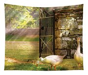 Farm - Geese -  Birds Of A Feather Tapestry