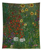 Farm Garden With Flowers Tapestry