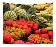 Farm To Market Produce - Melons, Corn, Tomatoes Tapestry