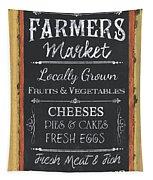 Farmer's Market Signs Tapestry