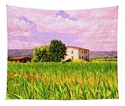 Farmhouse In Tuscany Tapestry
