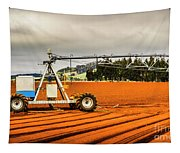 Farming Field Equipment Tapestry