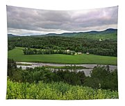 Farmland View Over The Connecticut River  Tapestry