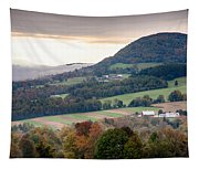 Farms Under The Morning Fog Tapestry