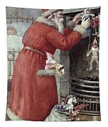 Father Christmas Tapestry by Karl Roger