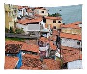 Favela In Salvador Da Bahia Brazil Tapestry