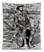 Fdr Memorial Sculpture In Wheelchair Tapestry