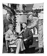 Fdr Presenting Medal Of Honor To William Wilbur Tapestry by War Is Hell Store