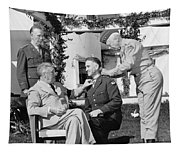 Fdr Presenting Medal Of Honor To William Wilbur Tapestry