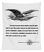 Fdr War Quote Tapestry