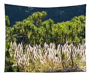 Feathery White Plants Tapestry