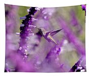 Feeding In The Midst Of Purple 1 Tapestry