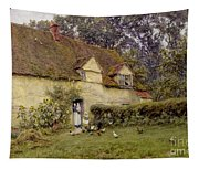 Feeding The Fowls Tapestry