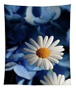 Feeling Blue Daisies Tapestry