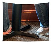 Feet In A Booth Tapestry