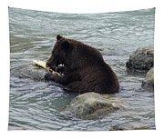 Feasting Bear Tapestry