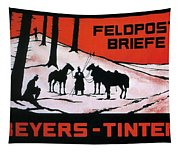 Feldpost-briefe - Beyers-tinten - Two Man With Horses - Retro Travel Poster - Vintage Poster Tapestry