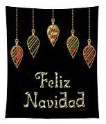 Feliz Navidad Spanish Merry Christmas Tapestry
