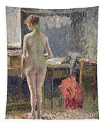 Female Nude Seen From The Back Tapestry
