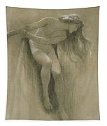Female Nude Study  Tapestry by John Robert Dicksee