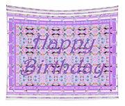 Feminine Lavender Birthday Card Tapestry