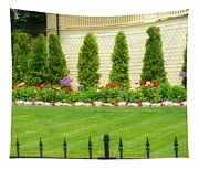 Fence Lined Garden Tapestry