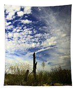 Fence Post And New Mexico Sky Tapestry