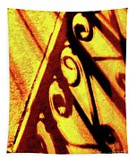 Fence Shadows 5 Tapestry