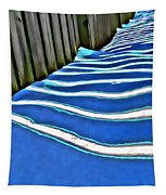 Fence Shadows Tapestry
