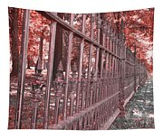 Fenced In Red Tapestry