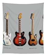 Fender Guitar Collection Tapestry by Mark Rogan