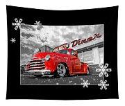 Festive Chevy Truck Tapestry