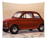 Fiat 500 1957 Painting Tapestry