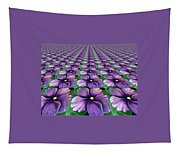 Field Of African Violets Tapestry