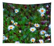 Field Of Daisys  Tapestry