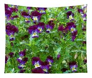 Field Of Pansy's Tapestry