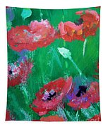 Field Of Red 2 Tapestry