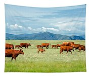 Field Of Reds Tapestry