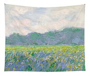 Field Of Yellow Irises At Giverny Tapestry